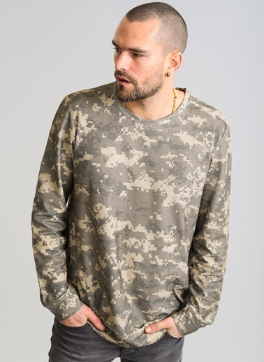 Desenli Sweatshirt-People By Fabrika